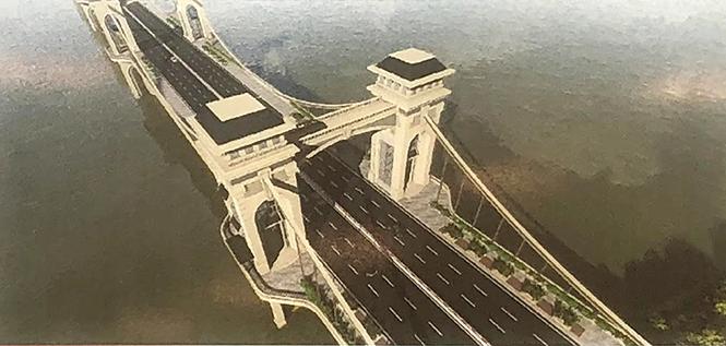 Báo cáo Thành ủy Hà Nội phương án xây cầu Trần Hưng Đạo vượt sông Hồng