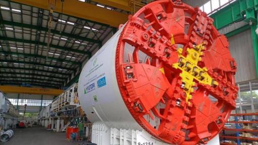Cận cảnh robot đào hầm đường sắt Nhổn- ga Hà Nội dài hơn 100m, nặng 850 tấn