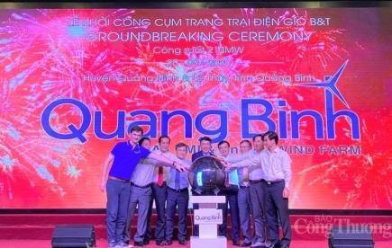 Quảng Bình: Khởi công cụm trang trại điện gió gần 9.000 tỷ đồng