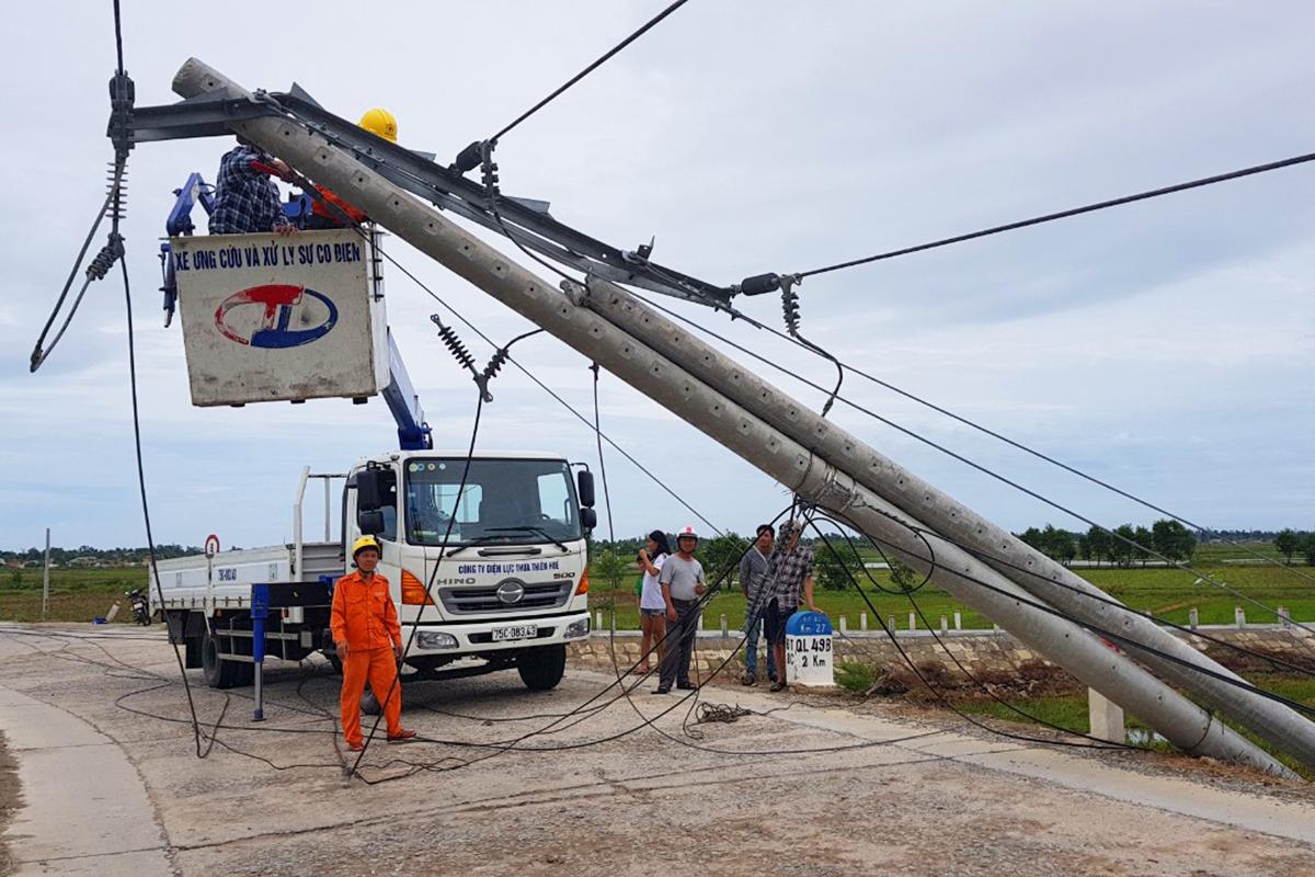 Nhiều nơi ở Thừa Thiên Huế có điện trở lại