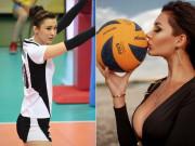 """2 nữ thần bóng chuyền Kazakhstan đọ sắc đẹp """"nghiêng nước nghiêng thành"""""""