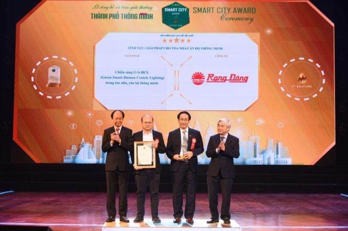 Giải pháp chiếu sáng của Rạng Đông được vinh danh tại Giải thưởng Thành phố thông minh 2020