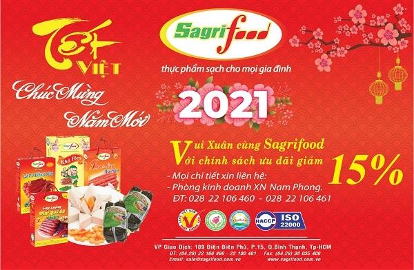Sagrifood tung sản phẩm chào xuân Tân Sửu 2021
