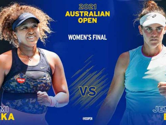 Video tennis Osaka - Brady: Áp đảo khó ngờ, ngôi hậu xứng đáng (Chung kết Australian Open)