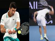 Djokovic trả giao bóng đỉnh cao, Medvedev ức chế đập nát vợt
