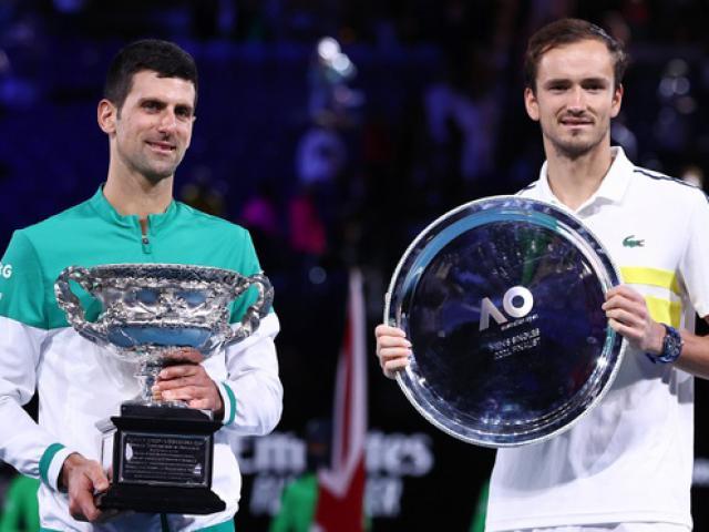 Bảng xếp hạng tennis 22/2: Medvedev lập kỳ tích, Djokovic sắp hạ Federer