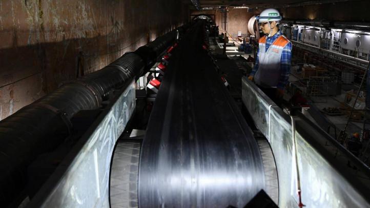 Cận cảnh robot đào hầm đường sắt Nhổn - ga Hà Nội chạy thử trong lòng đất