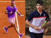 """Trực tiếp tennis Nadal - Carlos Alcaraz: """"Vua đất nện"""" đấu sao trẻ Carlos Alcaraz"""