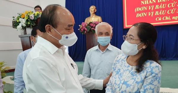 Chủ tịch nước Nguyễn Xuân Phúc làm việc tại Củ Chi