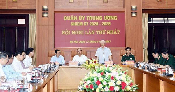 3 lãnh đạo chủ chốt tham gia Thường vụ Quân ủy Trung ương nhiệm kỳ 2020-2025