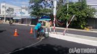 Người dân TP Cà Mau phấn khởi khi đoạn tuyến QL63 hoàn thành thảm nhựa