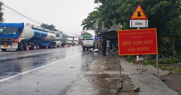 Thái Bình tạm dừng hoạt động các chốt kiểm soát cửa ngõ