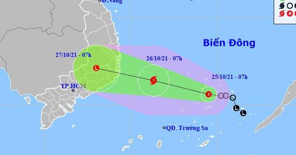 Áp thấp nhiệt đới có thể mạnh thành bão, hướng vào Bình Định - Khánh Hòa