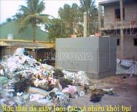 HT lò đốt rác cơ động thải khói sạch