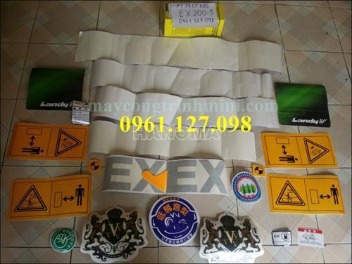 DECAL MÁY XÚC HITACHI EX200-5 , TEM MÁY XÚC HITACHI EX200-5