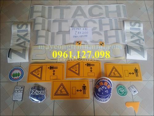 DECAL MÁY XÚC HITACHI ZX200 , TEM MÁY XÚC HITACHI ZX200