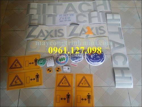 DECAL MÁY XÚC HITACHI ZX210 , TEM MÁY XÚC HITACHI ZX210