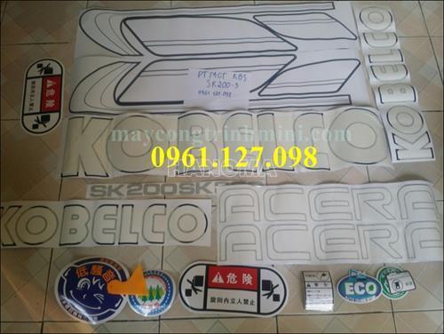 DECAL MÁY XÚC KOBELCO SK200-3 , TEM MÁY XÚC KOBELCO SK200-3