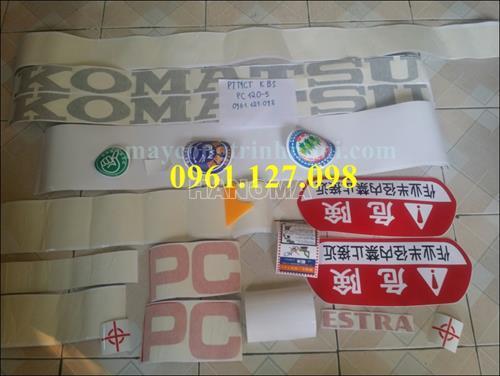DECAL MÁY XÚC KOMATSU PC120-5 , TEM MÁY XÚCKOMATSU PC120-5