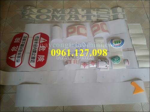 DECAL MÁY XÚC KOMATSU PC60-5 , TEM MÁY XÚC KOMATSU PC60-5