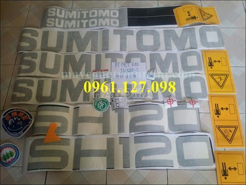DECAL MÁY XÚC SUMITOMO SH120-6 , TEM MÁY XÚC SUMITOMO SH120-6