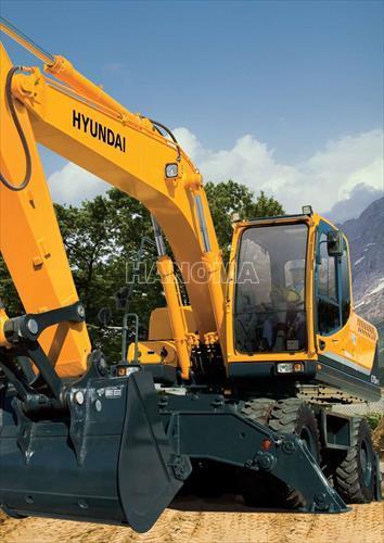 Máy xúc đào bánh lốp HYUNDAI R60W-9S