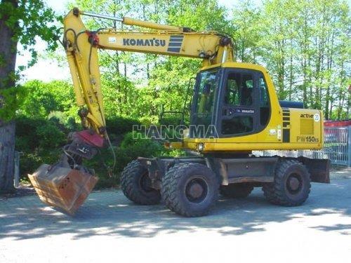 Máy xúc đào bánh lốp KOMATSU PW150