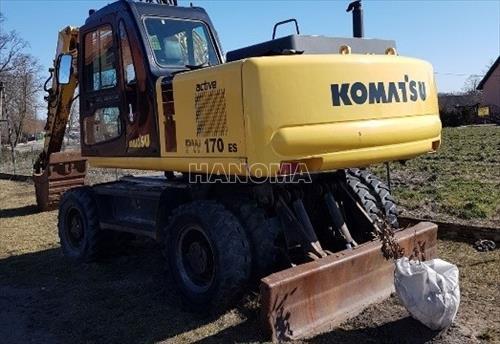 Máy xúc đào bánh lốp KOMATSU PW170ES 2018