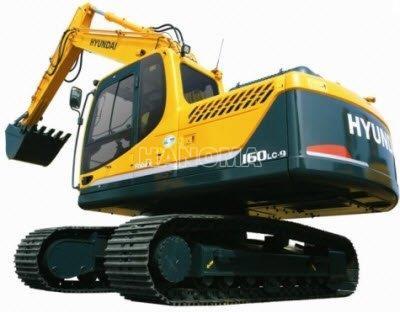 Máy xúc đào bánh xích HYUNDAI ROBEX 160 LC-9 2018