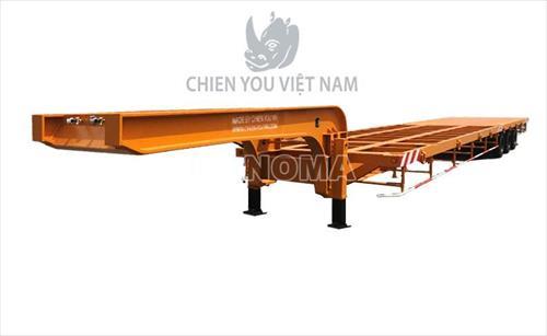 Sơ mi - Rơ moóc CHIENYOU LB45F sàn thấp 45 feet 3 trục