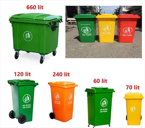 Thùng rác công cộng 240L chất lượng giá tốt tại Nha Trang
