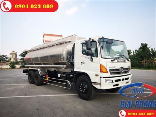 Xe bồn chở xăng, dầu HINO 500 FL8JT7A 21 khối téc nhôm