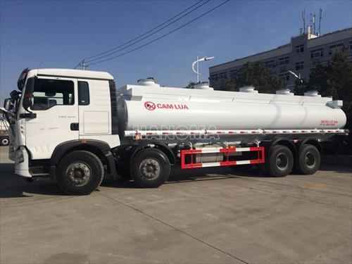 Xe bồn chở xăng, dầu HOWO ZZ1317N466GC1 (8×4) 4 Chân 22m3