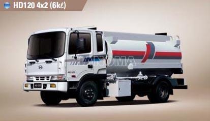 Xe bồn chở xăng, dầu HYUNDAI HD120  5 Tấn