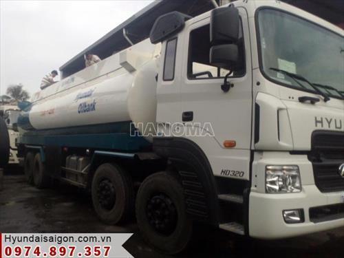 Xe bồn chở xăng, dầu HYUNDAI HD320 BỒN XĂNG DẦU 22M3