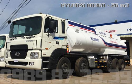 Xe bồn chở xăng, dầu 2020 HYUNDAI HD360 26 Khối