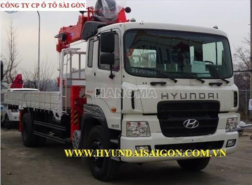 Xe cẩu tự hành HYUNDAI HD170 GẮN CẨU 8T
