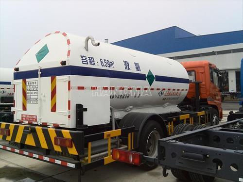 Xe chở khí hoá lỏng TQ SP0120 chở Oxy, Ni tơ, Argon lỏng 6,5 khối