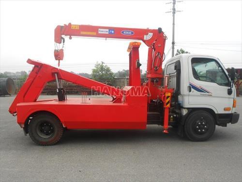 Xe cứu hộ HYUNDAI HD650 càng kéo (màu đỏ)