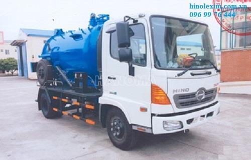 Xe hút bể phốt HINO FC9JETA 5 khối chất thải