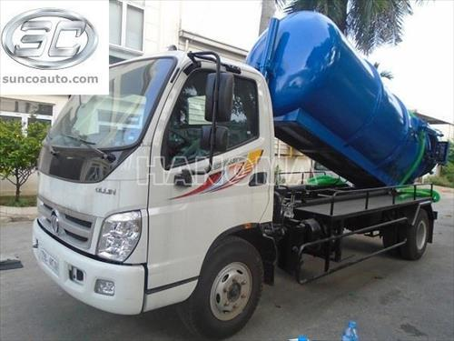 Xe hút bể phốt THACO OLLIN700C-CS/HTA-HCT 7 khối