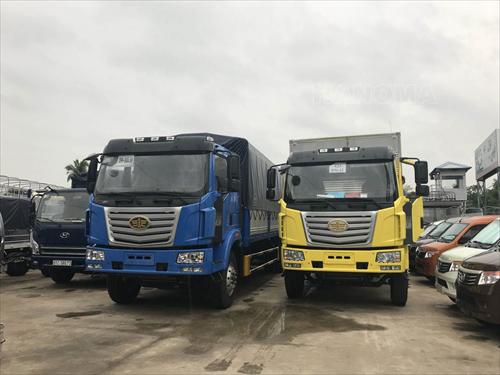 Xe tải 2019 FAW 8T 1 cầu thùng mui bạt