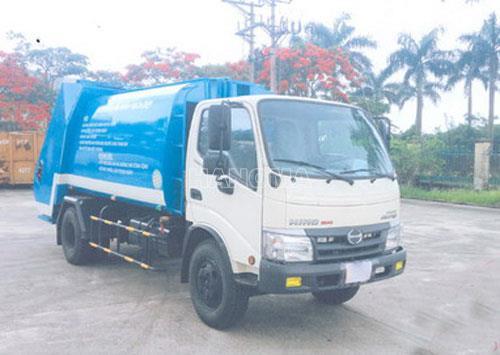 Xe thu gom rác HINO WU342L