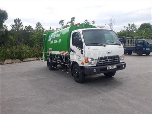 Xe thu gom rác HYUNDAI NEW MIGHTY 110SP 10 Khối