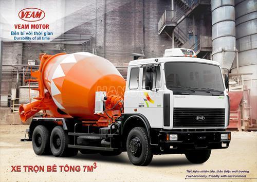 Xe trộn bê tông VEAM VM650305-220 12 tấn